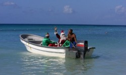 Santa on a Speed Boat