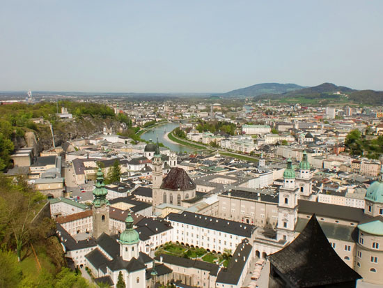 View of Salzburg from the castle and fortress