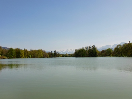 lake at leopoldskron palace salzburg austria