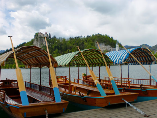 Wooden Boats on Lake Bled, Slovenia