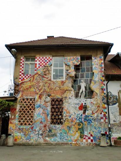 Crazy arty building in Ljubljana, Slovenia
