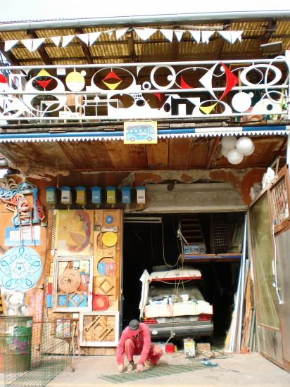 Wacky garage in Ljubljana Slovenia