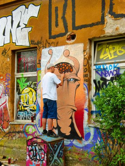 Graffiti Artist in Ljubljana, Slovenia