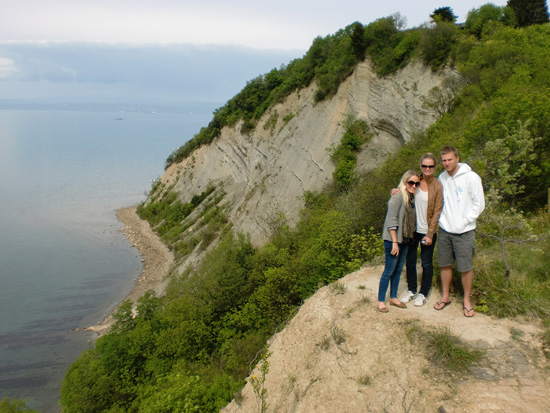 Me, Crystal and Blake on the Slovenian Coast