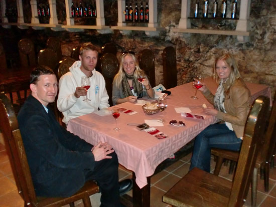 Wine tasting at Vinakras in Slovenia