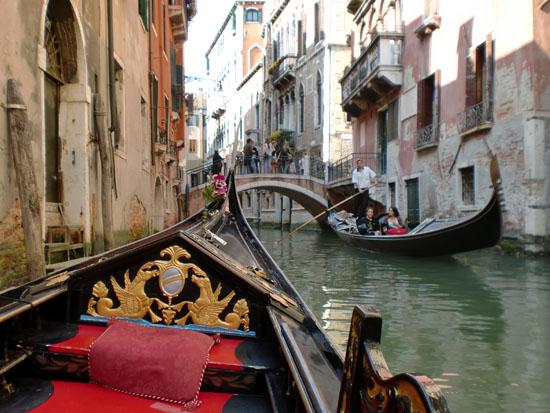 Gondola Ride Down Small Inner C Venice Italy