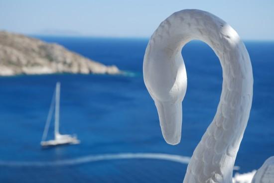 Swan View at Hermes Hotel in Ios, Greek Islands