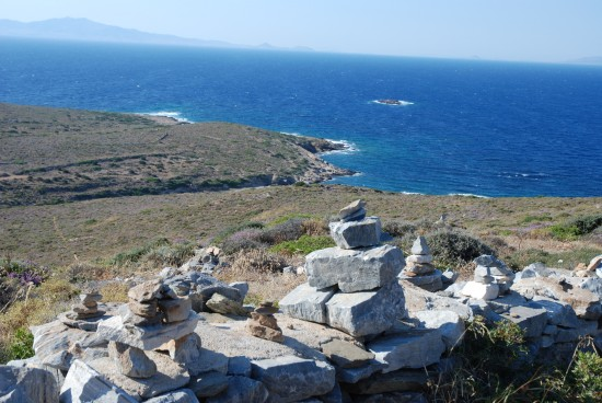 View at Homer's Tomb in Ios, Greek Islands