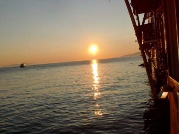 Sunset in Little Venice, Mykonos, Greece