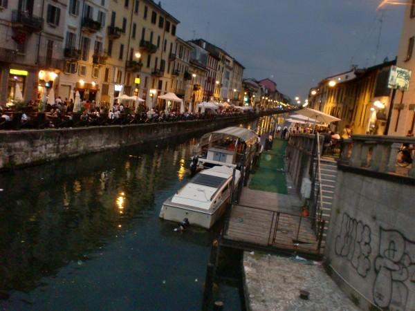 Navigli Canal Milan nightlife