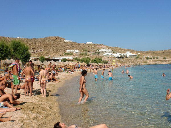 Paradise Beach, Mykonos, Greece
