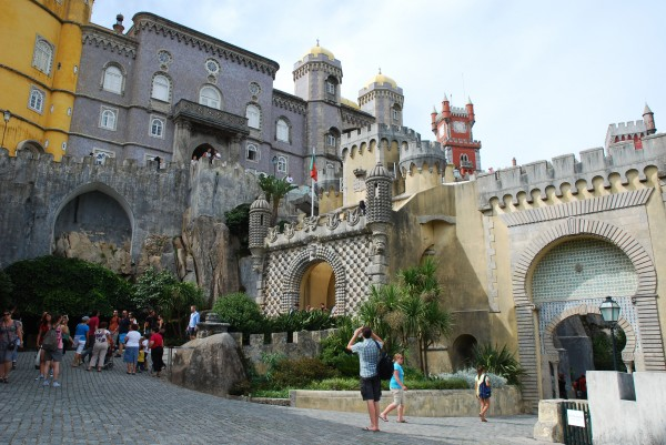 Pena Palace Exterior in Sintra, Portugal