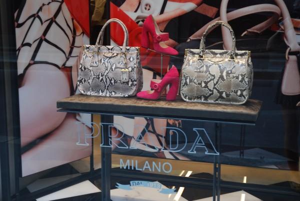 Prada Milano designer shop, Via Montenapoleone, Milan