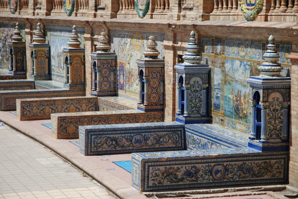 Alcoves of the Provinces at Plaza de Espana, Seville