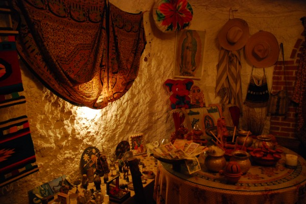 Inside a cave house in Granada, Spain