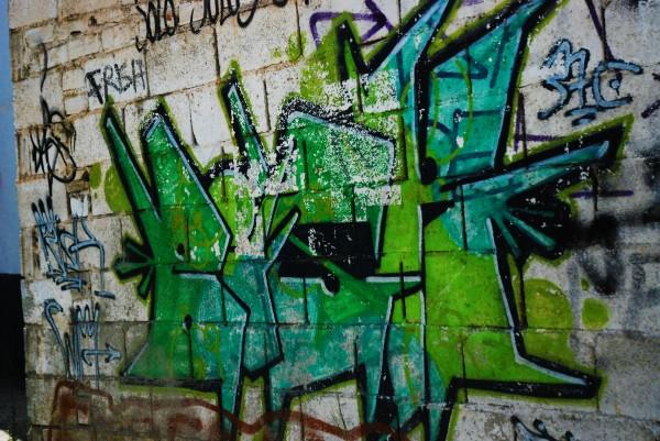 Green grafitti in Granada, Spain