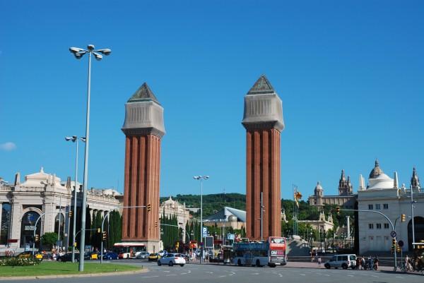 Placa d'Espanya in Barcelona, Spain