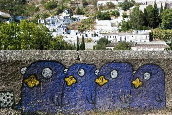 Street art walking tour in Granada, Spain