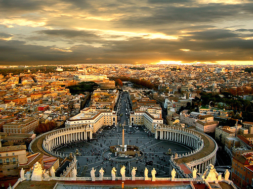 Rome- view from the Vatican