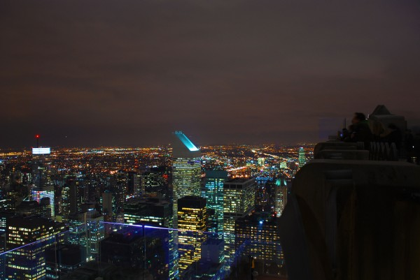 New York City at Night from Top of the Rock Observatory