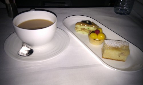 Desserts on Emirates Business Class