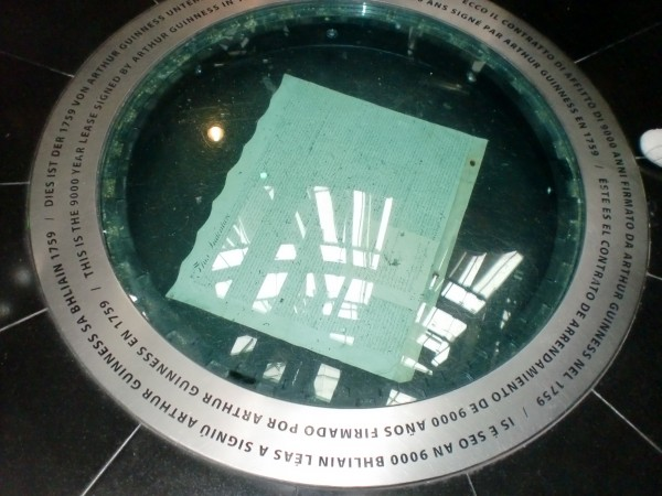 Arthur Guinness 9,000 year Lease at the Guinness Storehouse