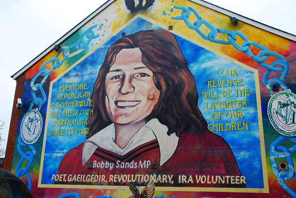 Black taxi tour of belfast pommie travels for Bobby sands mural