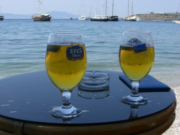 Efes Beers in Bodrum, Turkey