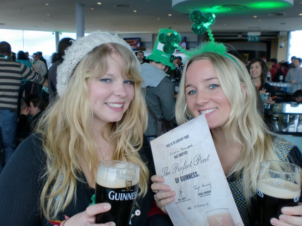 Me with Guinness Certificate in the Gravity Bar at the Guinness Storehouse