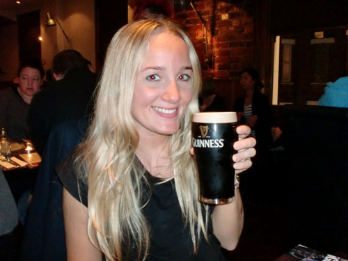 Me with a pint of guinness