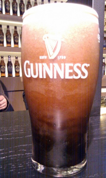 Pint of Guinness at the Guinness Storehouse