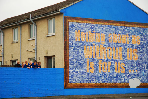 Nothing about us without us is for us mural