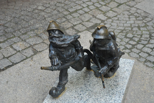 Firefighter Gnomes in Wroclaw, Poland