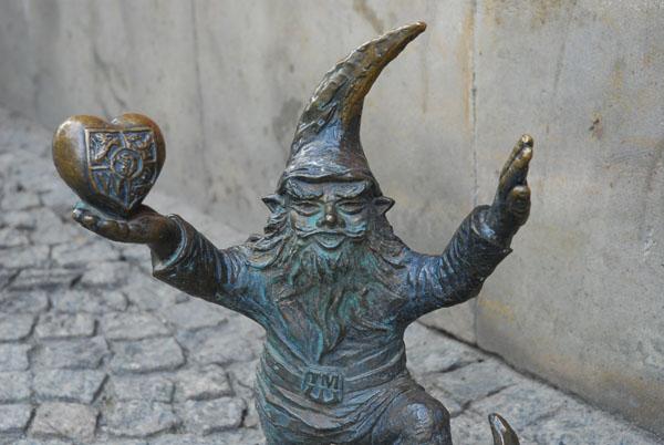 Heart Gnome, Wroklaw, Poland