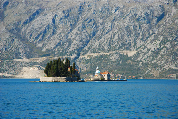 Islets Sveti Dorde and Our Lady of the Rocks on the Bay of Kotor, Montenegro