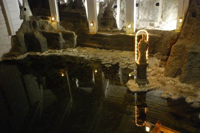 Grotto at Wieliczka salt mine