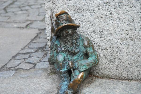 Sitting Gnome, Wroclaw, Poland