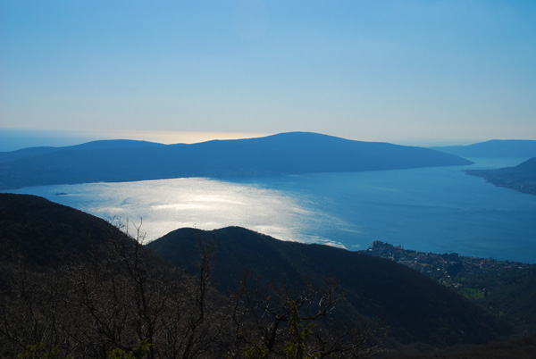 View from the Montenegro Mountain ridge