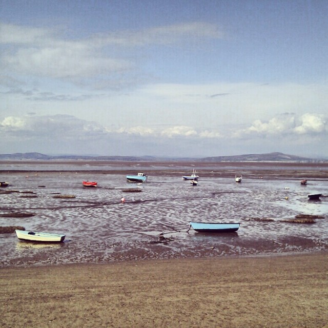 Morecambe Bay in Morecambe England