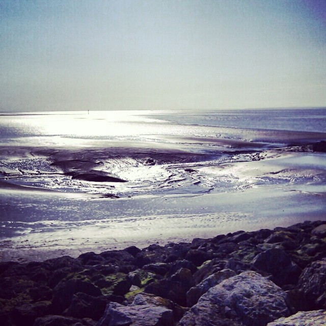 Mudflats in Morecambe, England