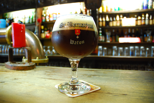 Dark Belgian Beer at De Dulle Griet in Ghent, Belgium