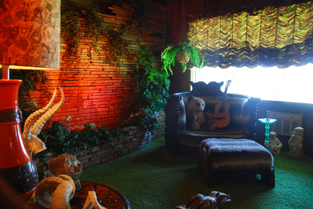 Elvis's Jungle Room at Graceland in Memphis Tennessee
