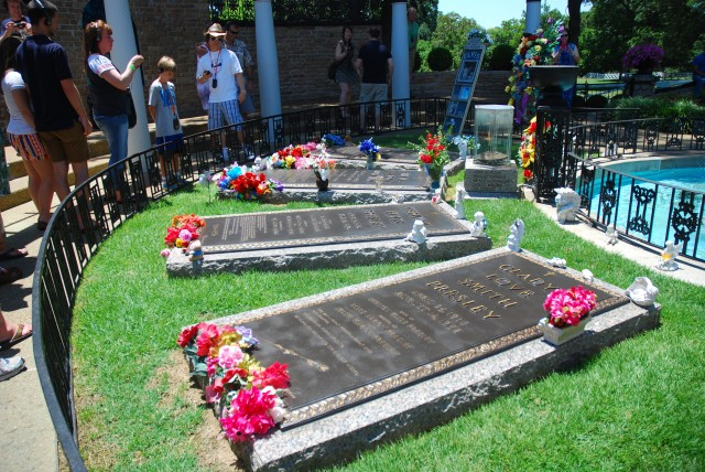 Elvis's Tomb at Graceland in Memphis Tennessee
