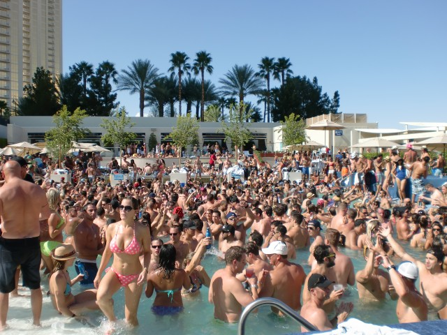Wet Republic pool party at MGM Grand, Las Vegas