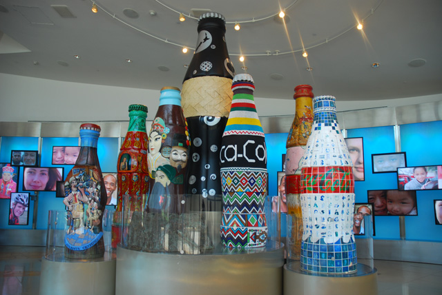World of Coca Cola Lobby Coke Bottles
