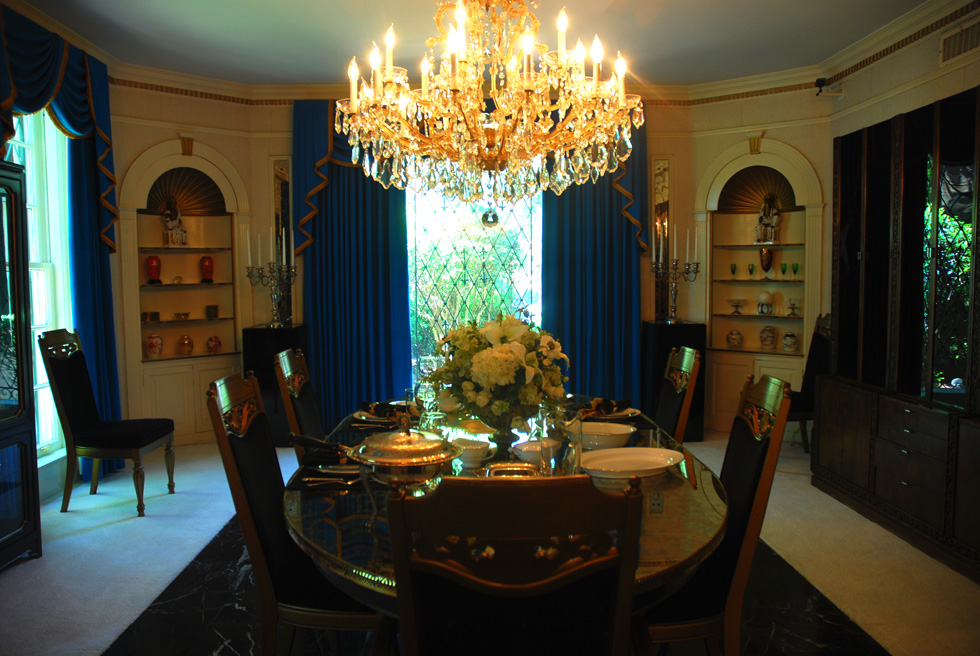 Elvis Presley Graceland Mansion Dining Room