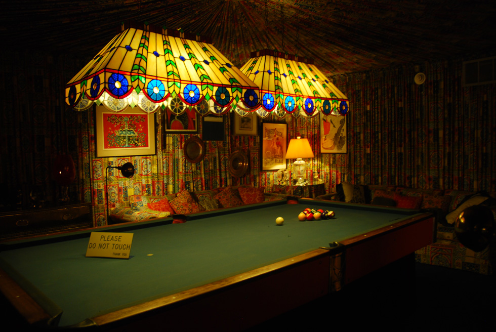 Games room with billiards table at Elvis's Graceland Mansion