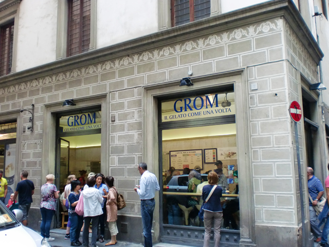 Grom Florence Gelato in Italy