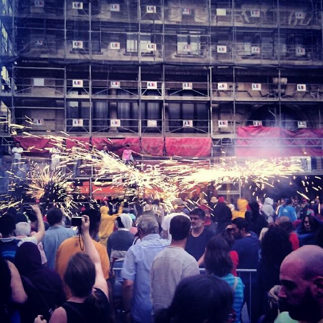 La Merce 2012 Correfoc Fire Run Barcelona