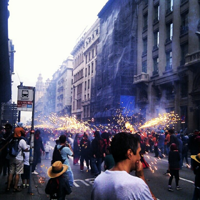 La Merce Barcelona Correfocs Fire Runners 2012